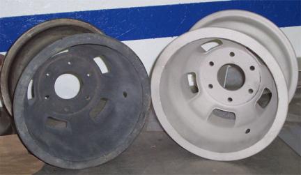 Пример обработки диска пескоструйной обработкой