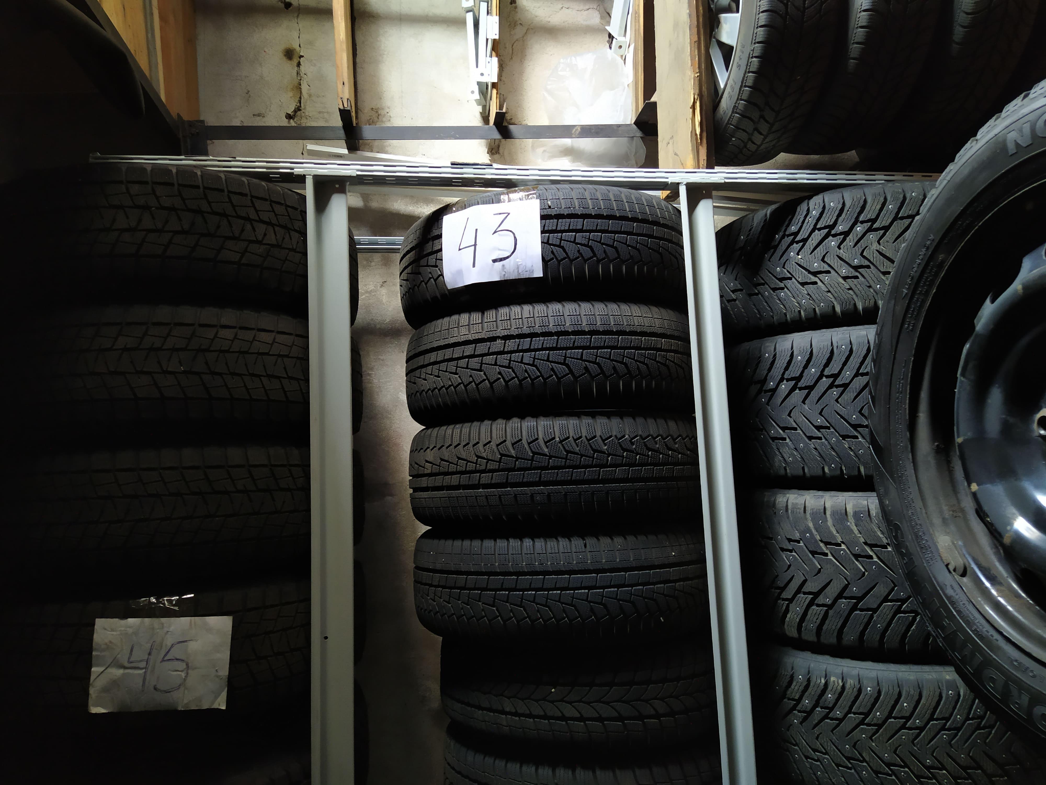 Хранение шин в сборе с автомобильным диском