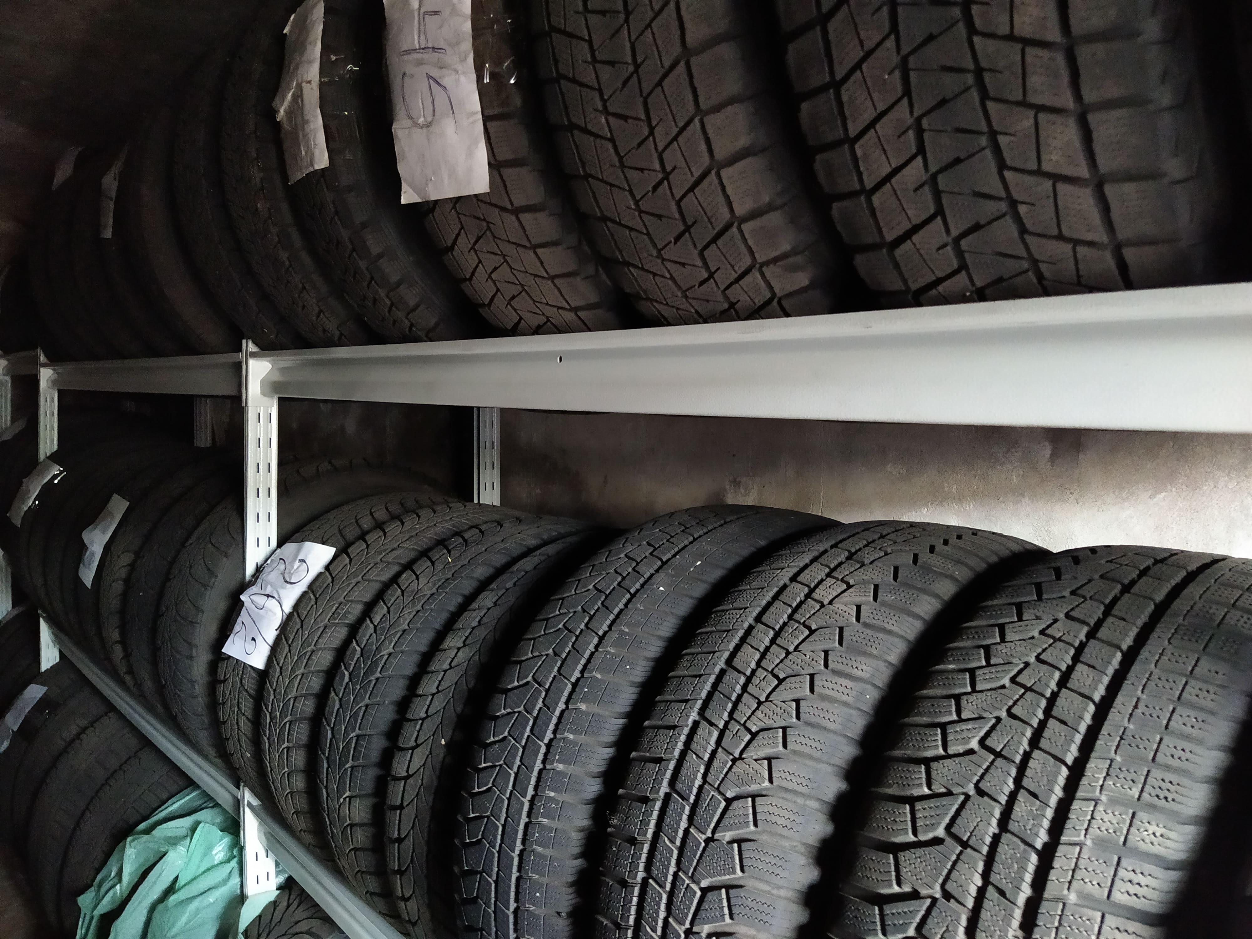 Хранение шин без автомобильных дисков