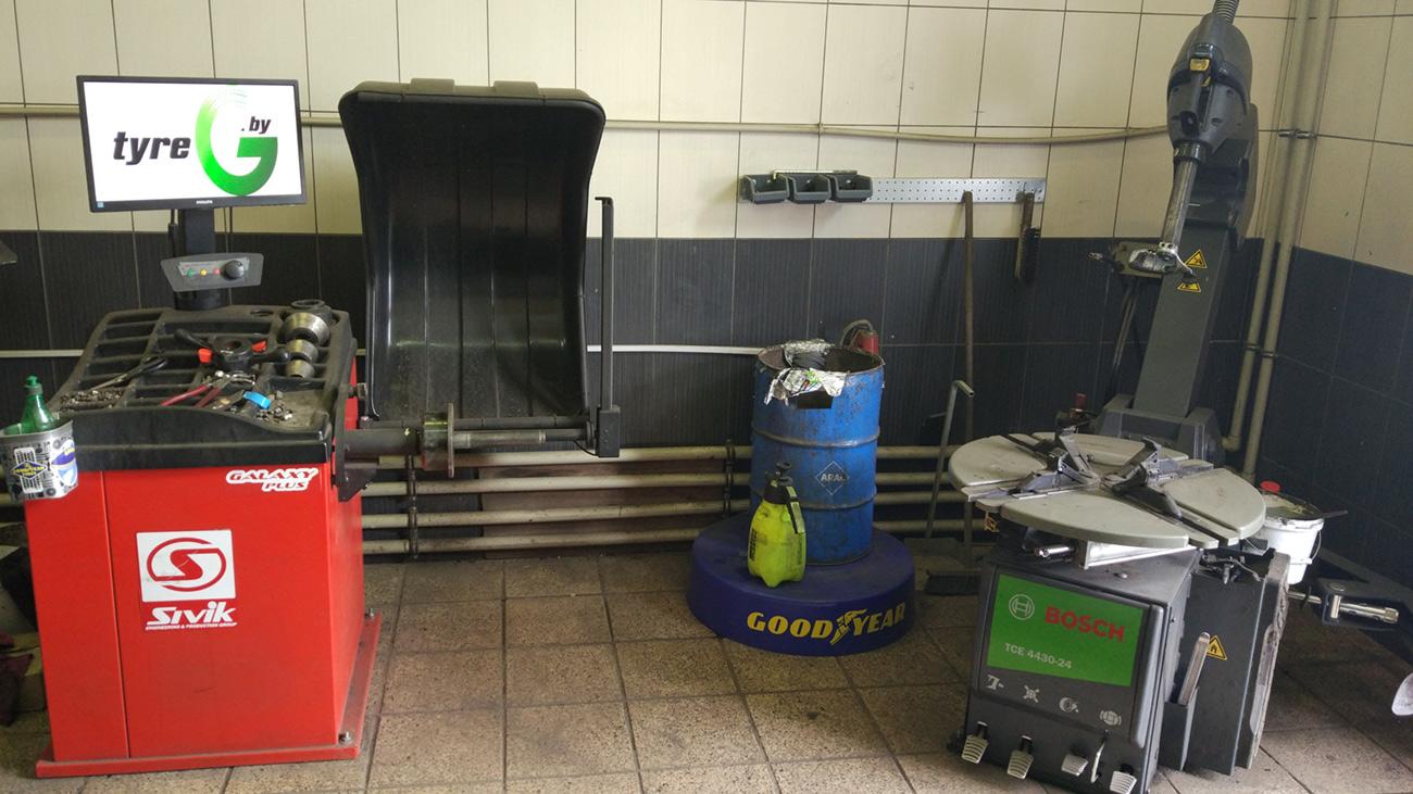 Балансировочный станок Sivik Galaxy Plus и шиномонтажный станок Bosch TCE 4430-24 (Италия)
